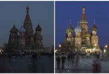 St. Basil's Cathedral at Earth Hour