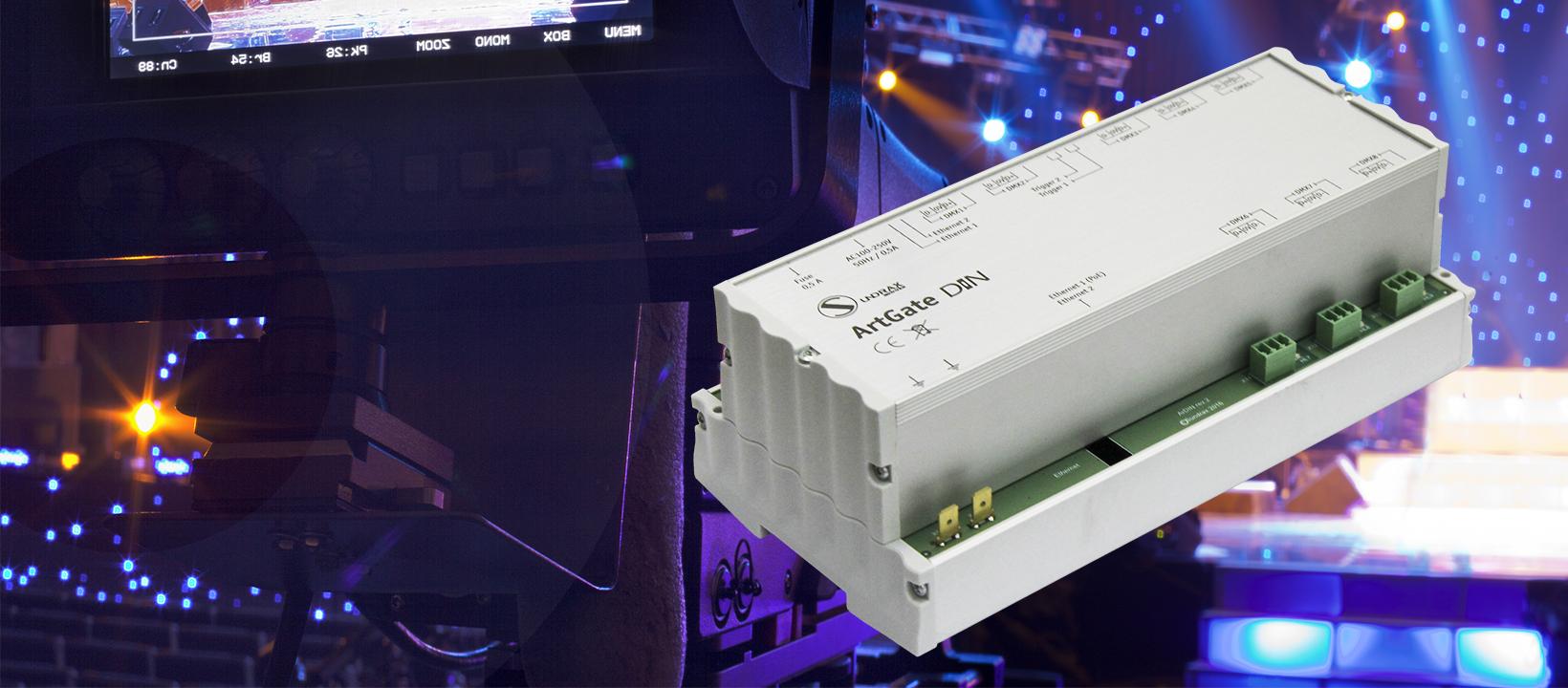 ArtGate DIN Bidirectional DMXArtNet/sACN converter, splitter, booster, intelligent merger with trigger inputs