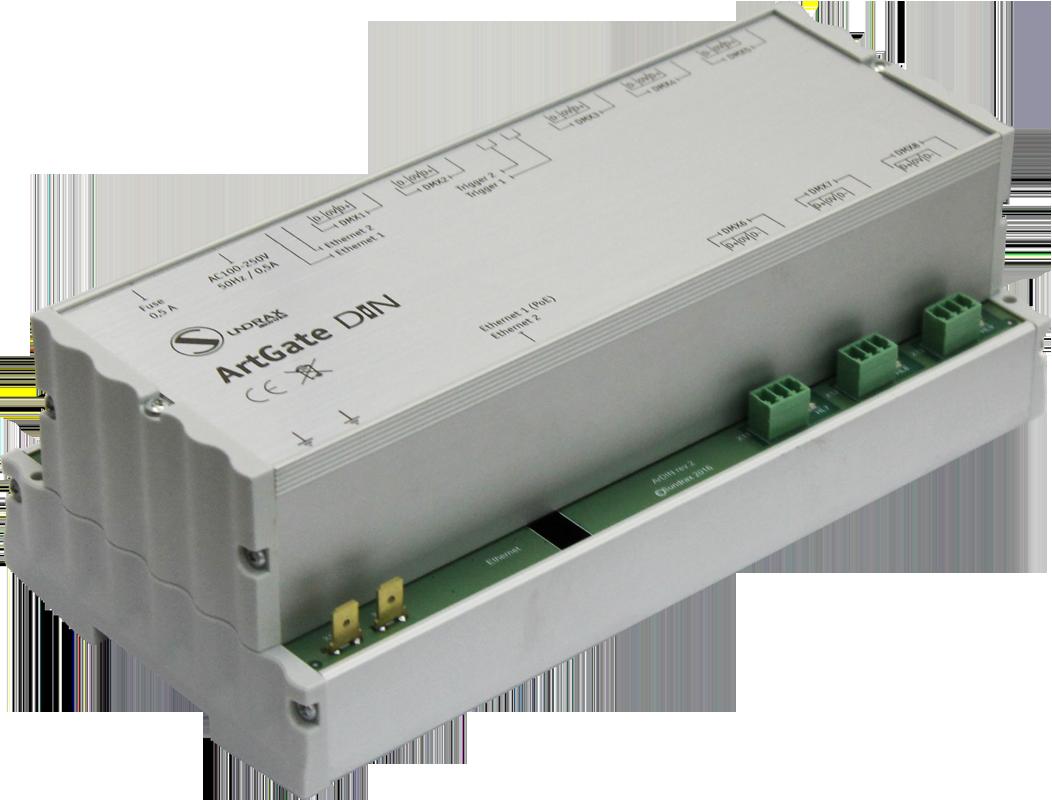 ArtGate DIN - DIN rail DMX Ethernet converter