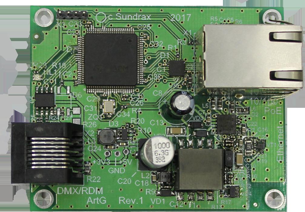 ArtGate Compact OEM - OEM bidirectional DMX<->ArtNet/sACN converter, splitter, booster, intelligent merger