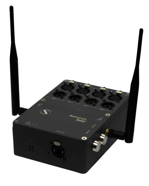 RadioGate Solid — 4-port wireless DMX/ArtNet/sACN transceiver