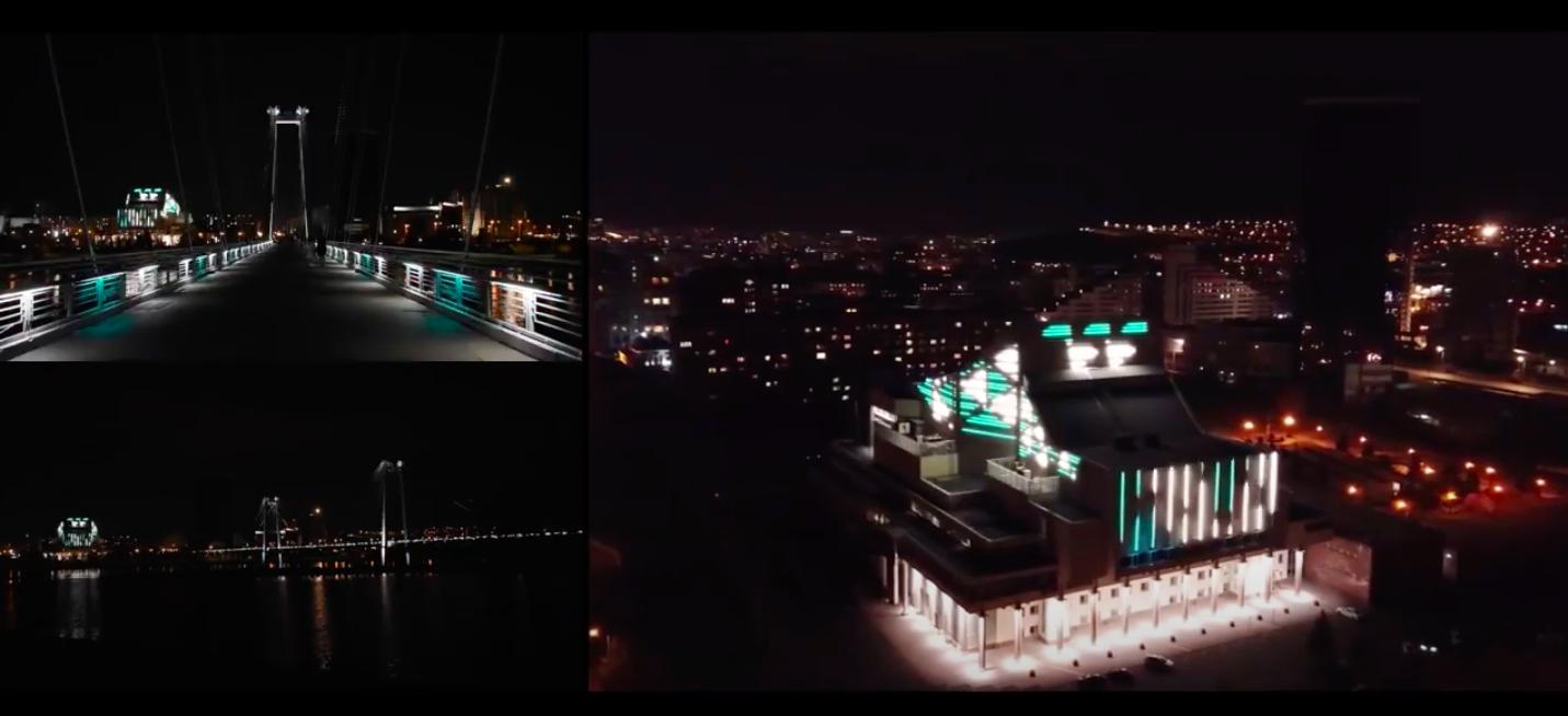 architectural lighting vinogradov bridge concert hall krasnoyarsk